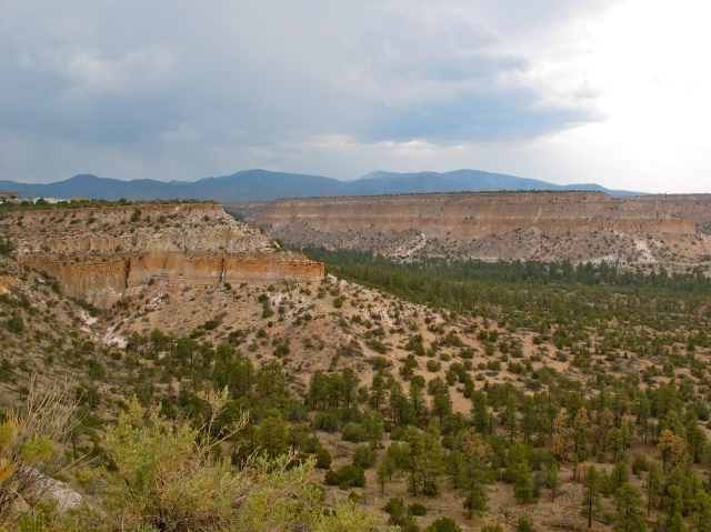 The area surrounding Los Alamos National Laboratory -- the birth place of the atomic bomb -- is stark but strangely beautiful.