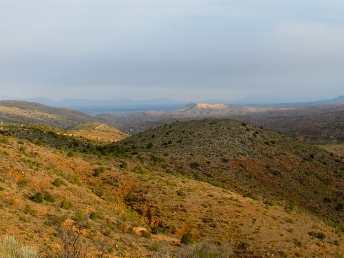 Looking out from Carlsbad toward the Guadalupe Mountains in TX.