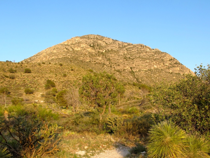 I woke up early to get a head start on the heat, before hiking Guadalupe Mountain-- the highest point in TX at 8,751 feet.