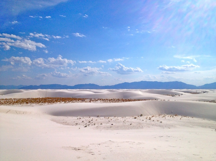 White Sands National Monument is 60 square miles of dunes, amidst the much larger White Sands Missile Range.