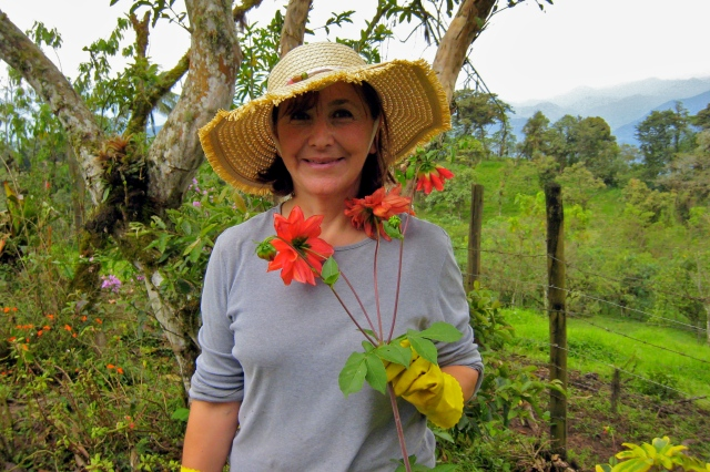 Maria, my homestay mother in Quito, at their family's finca outside the city