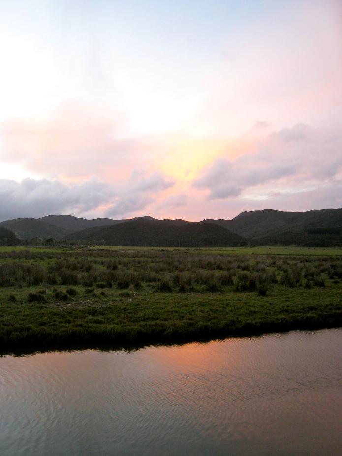 [sunset over the marsh]
